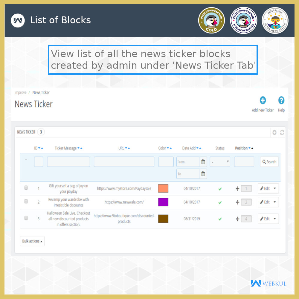 module - Инструменты навигации - News Ticker Block - News Scroll On Website - 7
