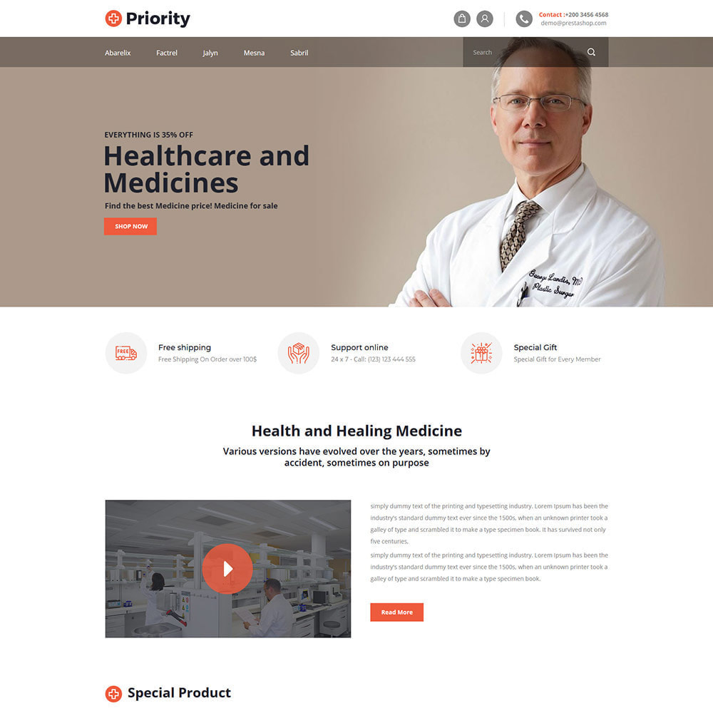 theme - Health & Beauty - Priority Medical Health - Medicine Store - 2