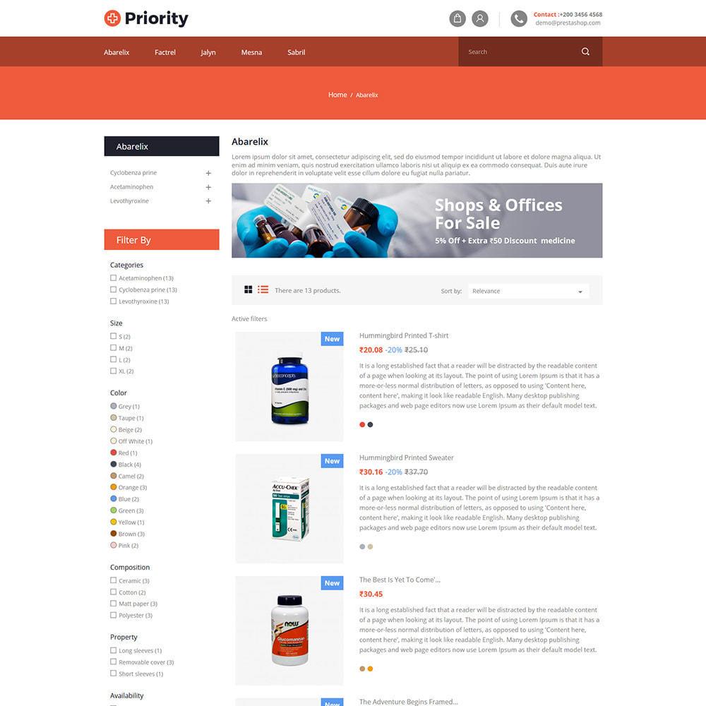 theme - Health & Beauty - Priority Medical Health - Medicine Store - 4