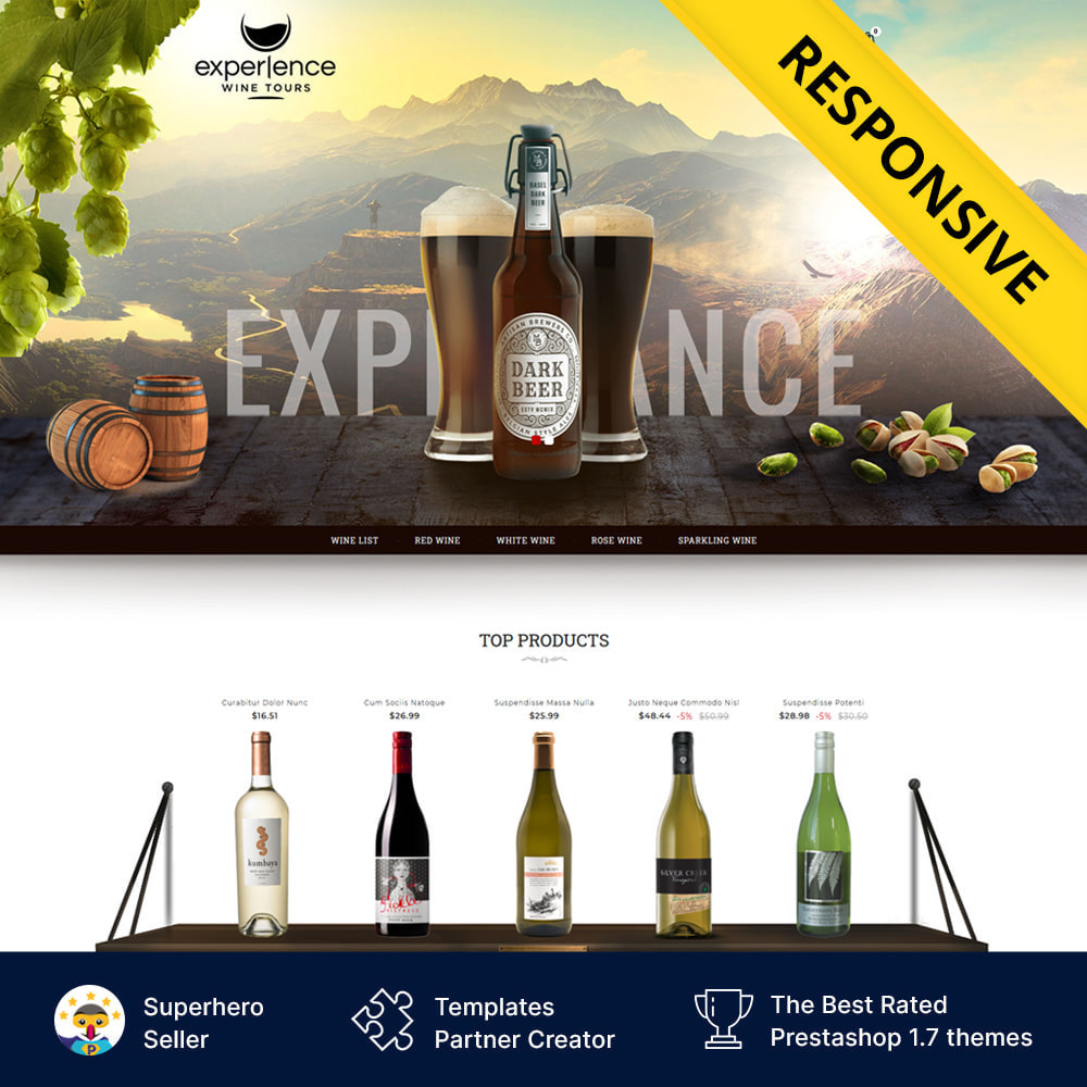 theme - Напитки и с сигареты - Experlence - Wine & Drink Store - 1