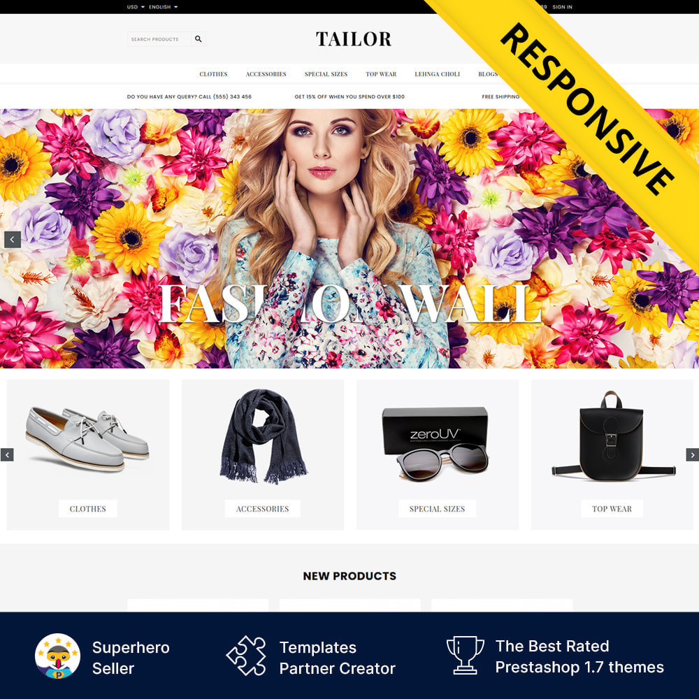 theme - Mode & Chaussures - Tailor Fashion Store - 1