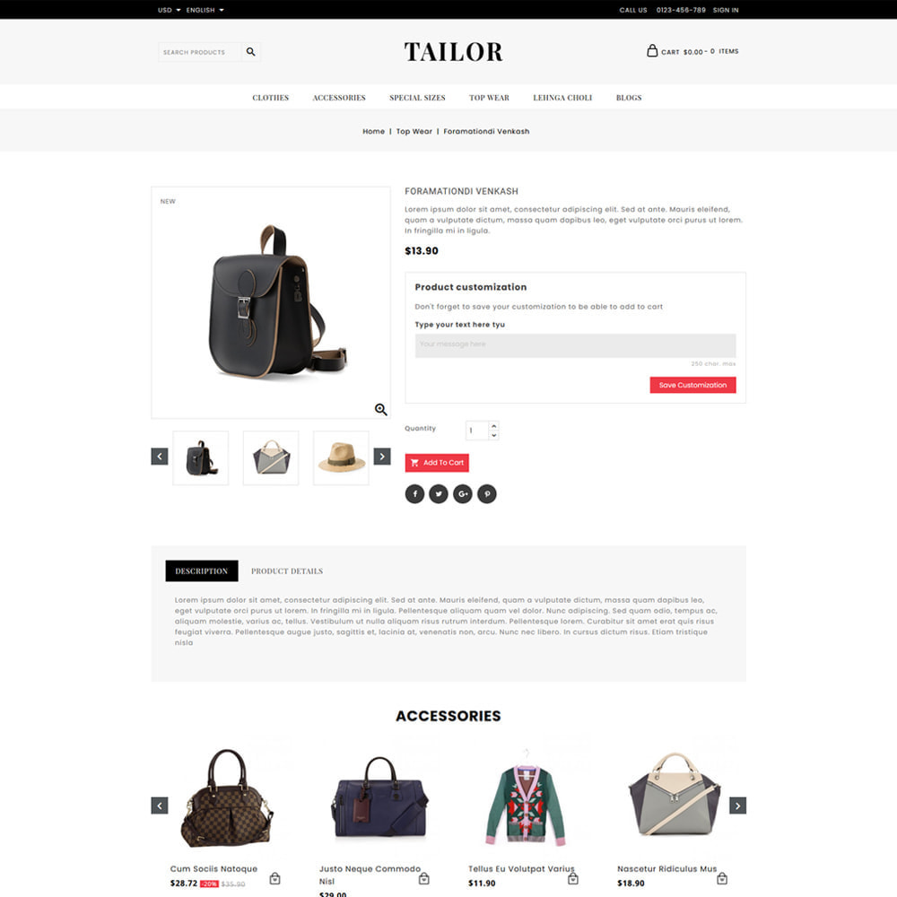 theme - Mode & Chaussures - Tailor Fashion Store - 4