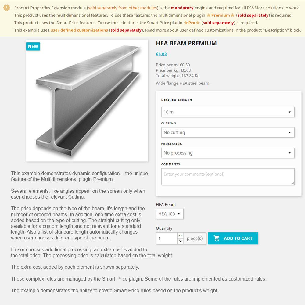 module - Grandezze & Unità di misura - Product Properties Extension Multidimensional Basic - 2