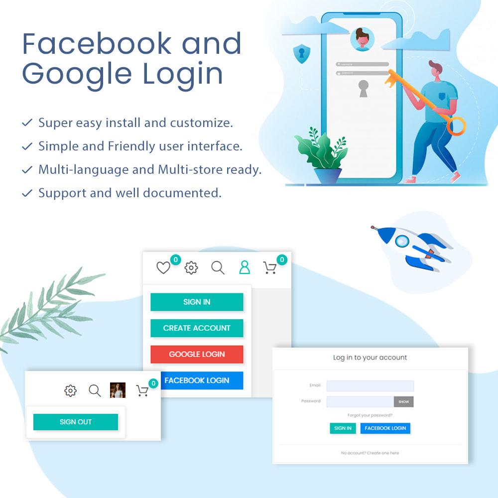 module - Social Login & Connect - Facebook & Google Login and Register - 1