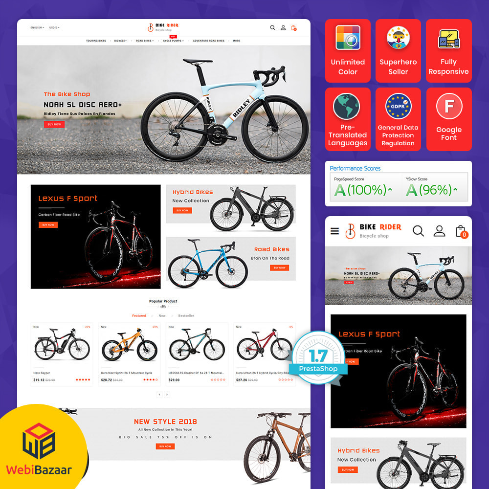 theme - Desporto, Actividades & Viagens - Bike Ryder - Bike Shop & Bicycle Rental Shop - 10