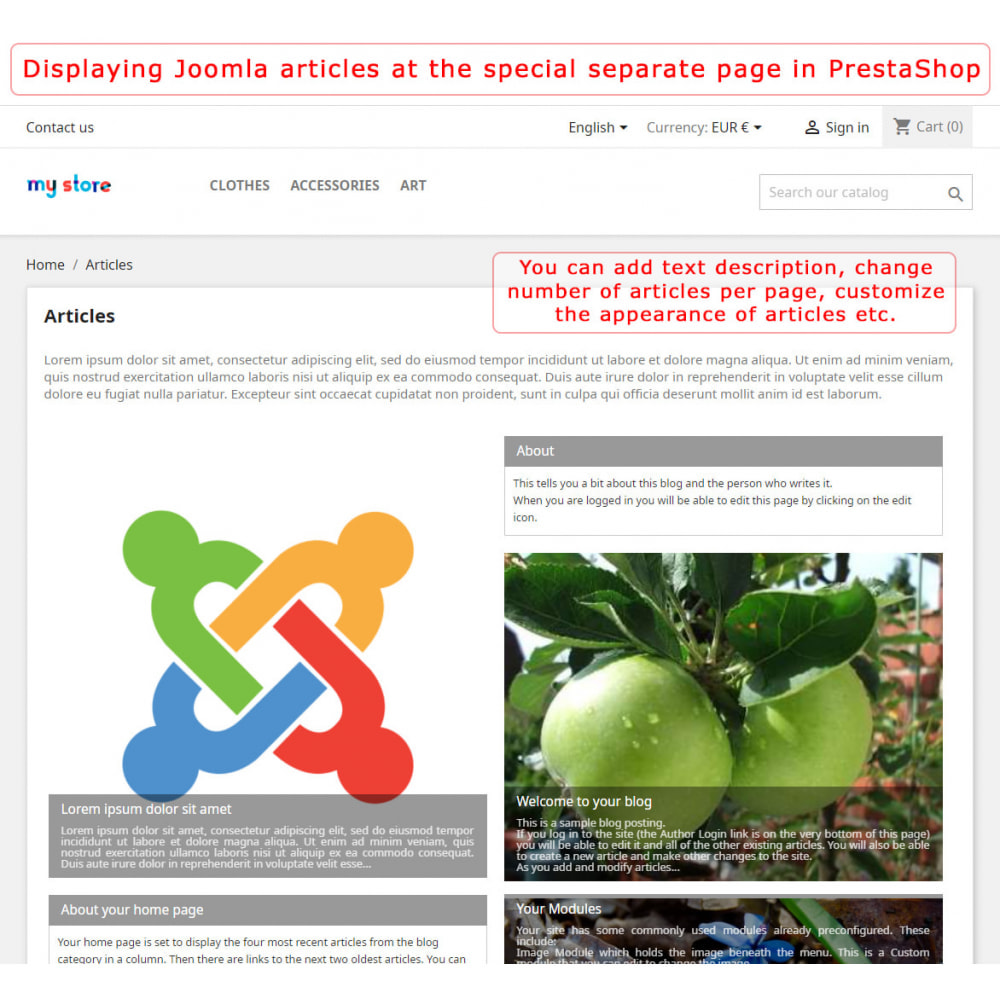 module - Marktplätze - PrestaShop-Joomla! two-way integration - 4