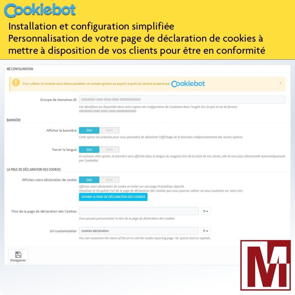 module - Législation - Cookiebot - Surveillance et contrôle des cookies - 2
