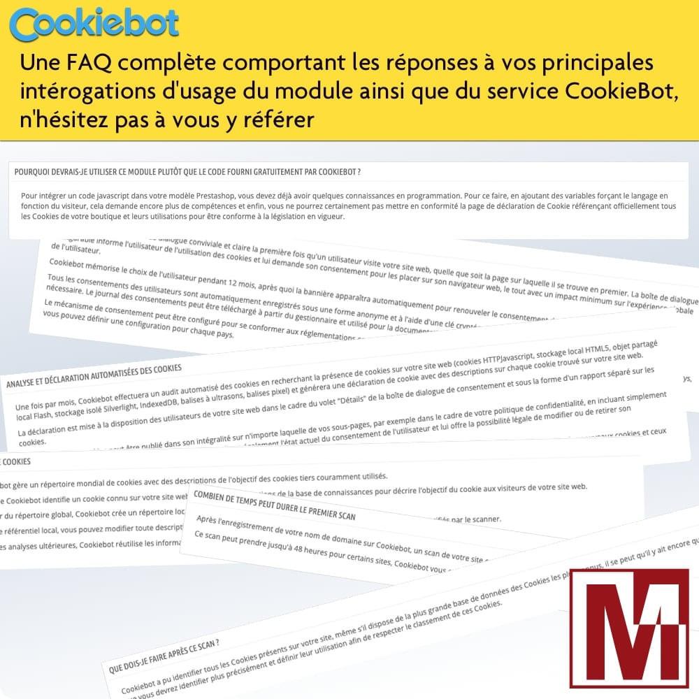 module - Législation - Cookiebot - Surveillance et contrôle des cookies - 5