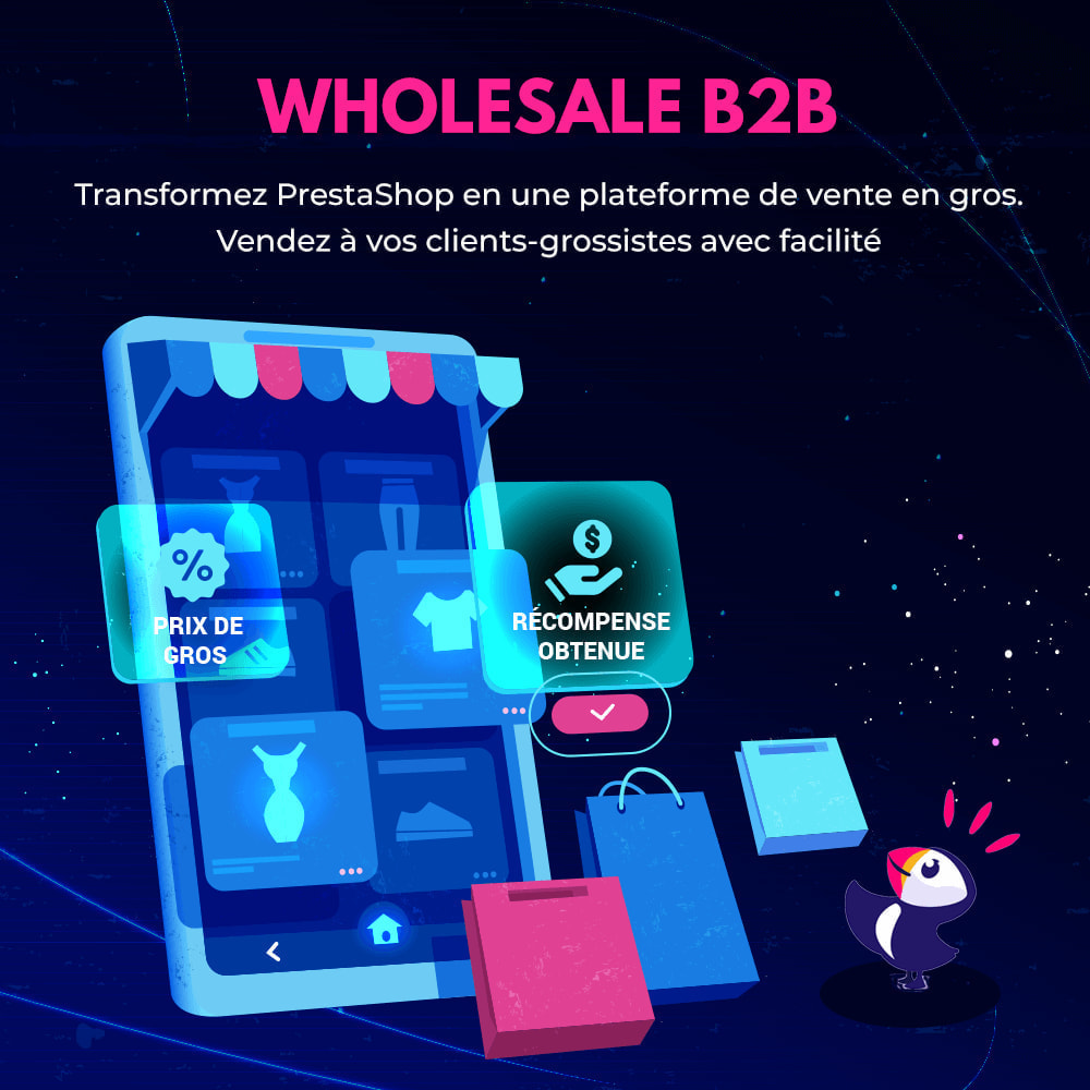 module - Ventes Flash & Ventes Privées - Wholesale B2B - Plateforme de vente en gros experte - 1