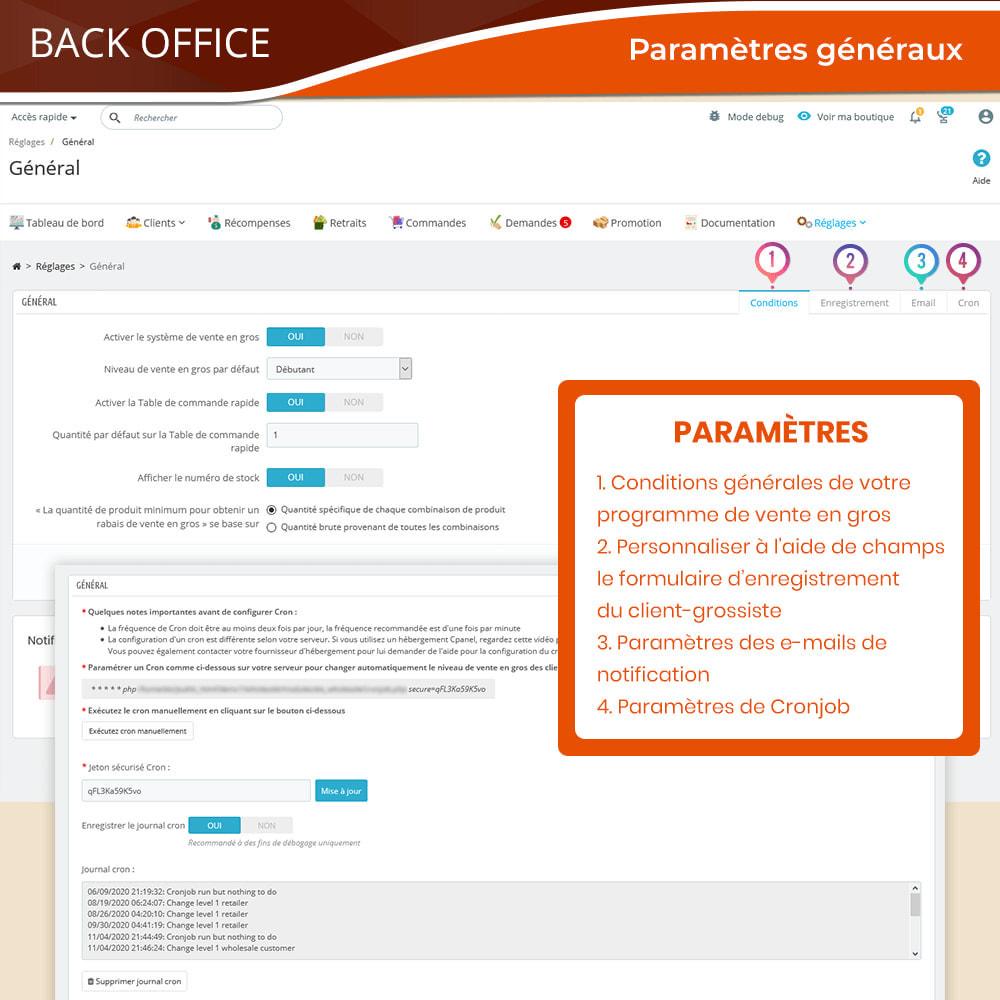 module - Ventes Flash & Ventes Privées - Wholesale B2B - Plateforme de vente en gros experte - 19
