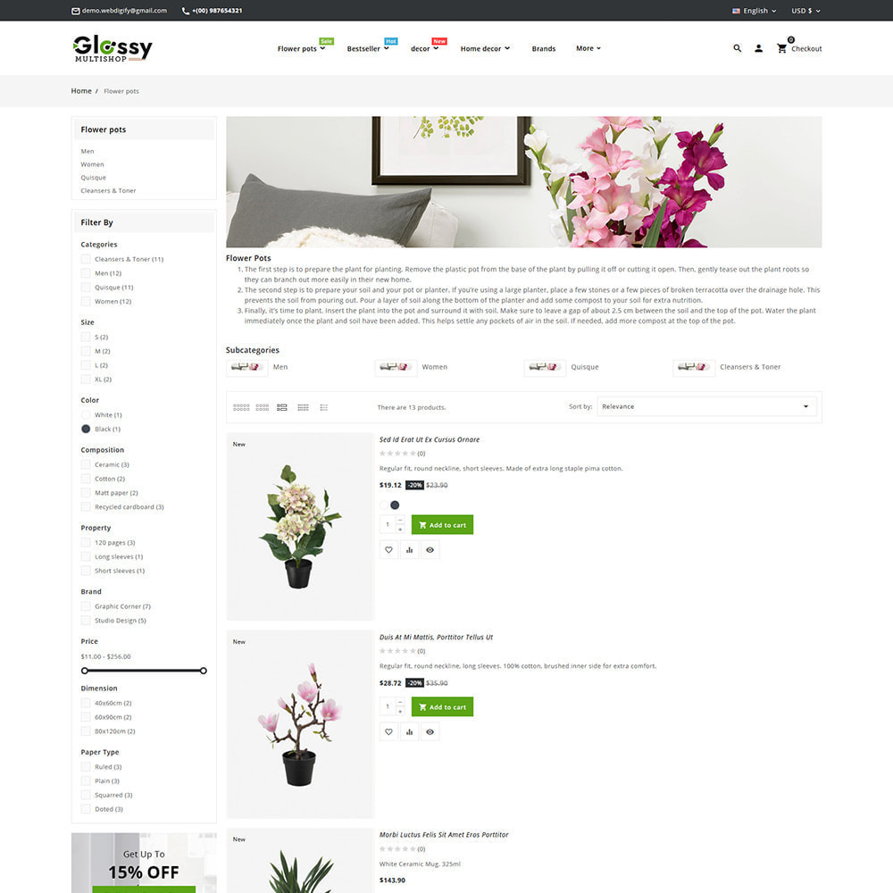 theme - Maison & Jardin - Glossy Nursery Plant & Tools - 8