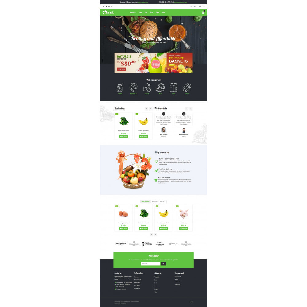 theme - Food & Restaurant - VP_Organic - Page Builder - 2