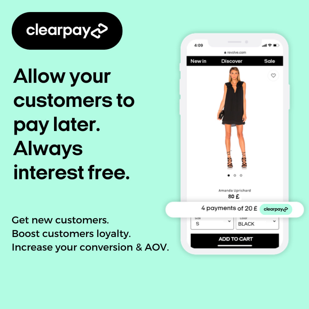 module - Payments & Gateways - Clearpay - Buy now, Pay later, Always interest-free - 1