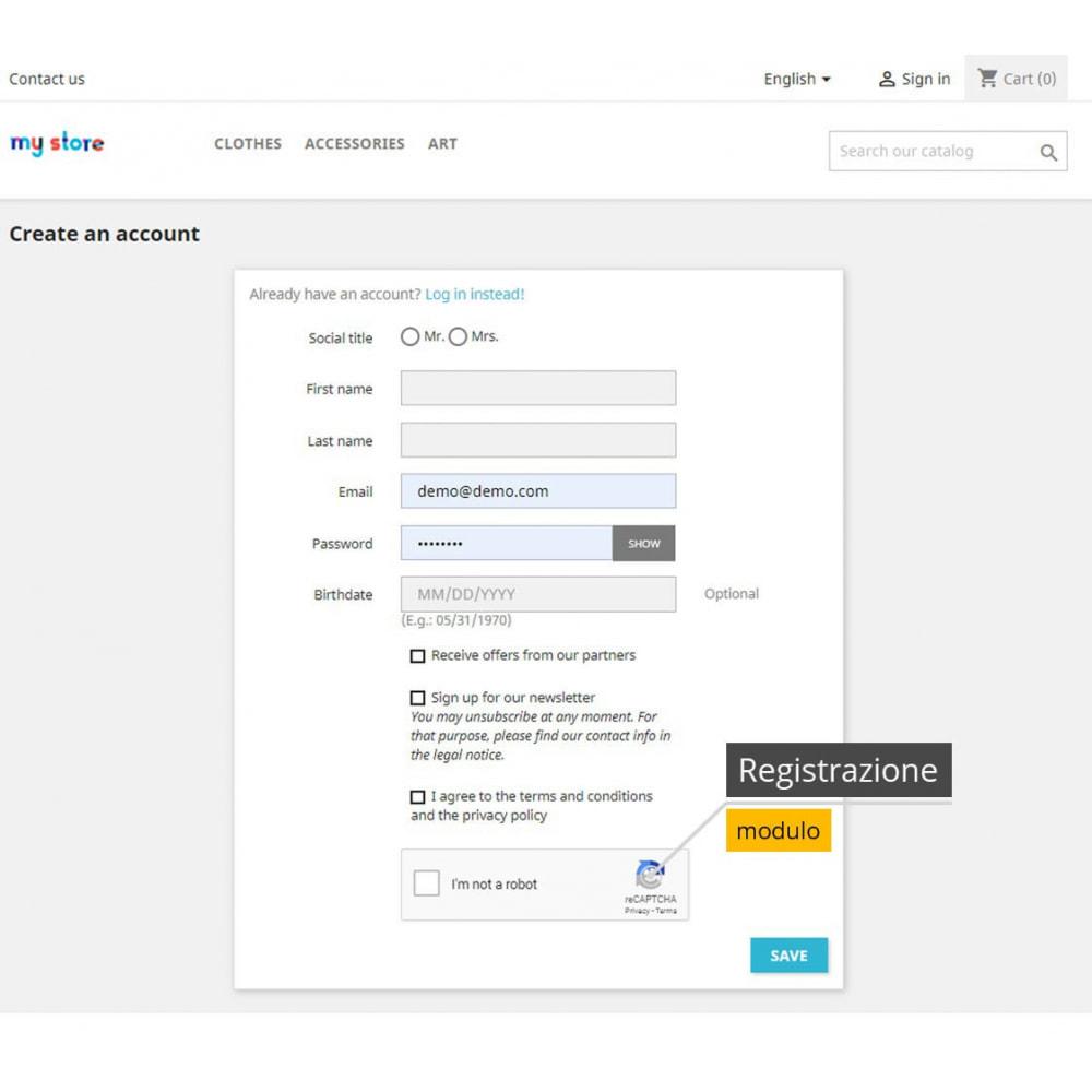 module - Security & Access - re-CAPTCHA + Filtro spam /Strumenti di verifica e-mail - 2