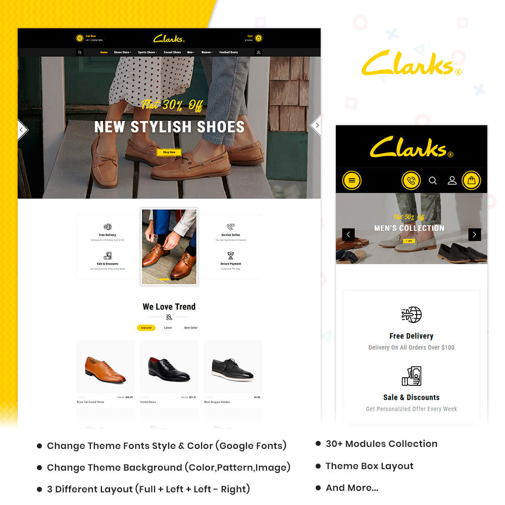 theme - Mode & Chaussures - Clarks–Shoes Big Mall - 1