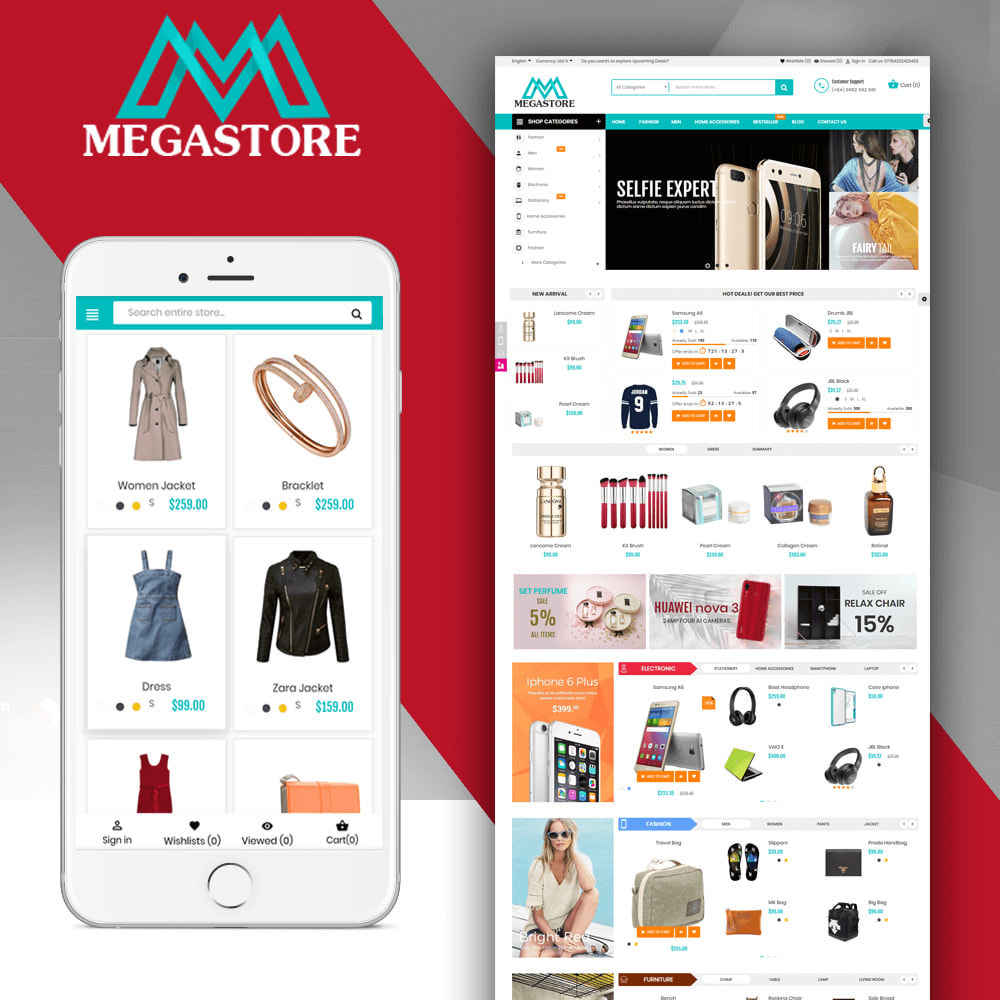 theme - Elektronika & High Tech - Mega shop online - 1