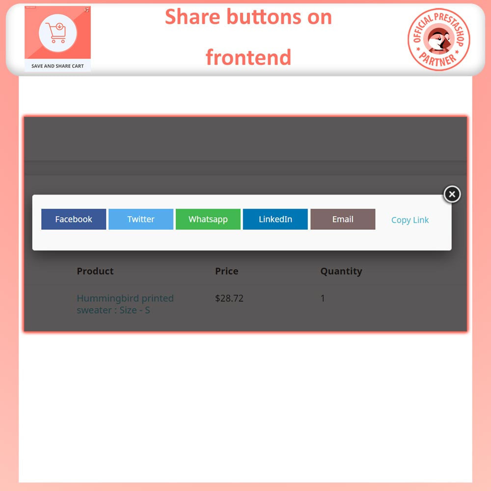 module - Registration & Ordering Process - Save and Share Cart - 4