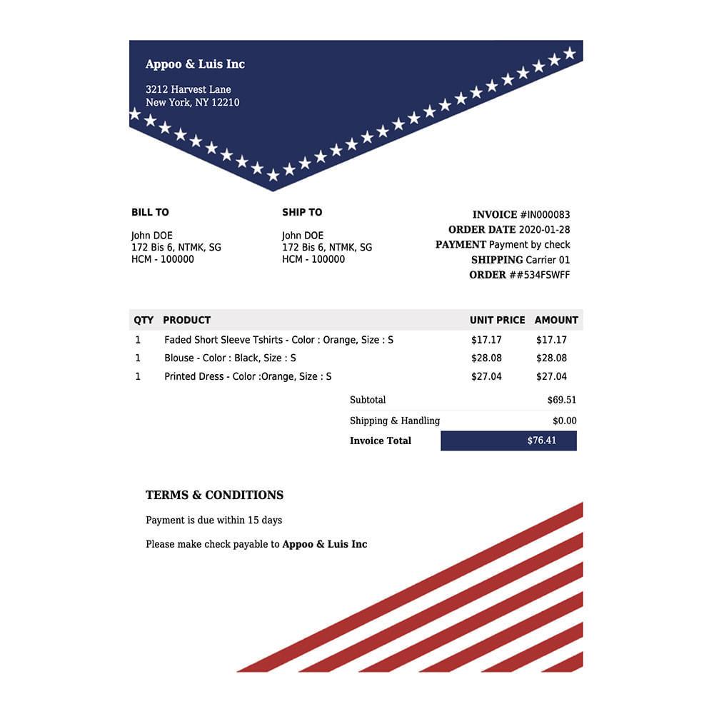 module - Comptabilité & Facturation - DocumenThemix: modèle de facture, crédit, livraison - 6