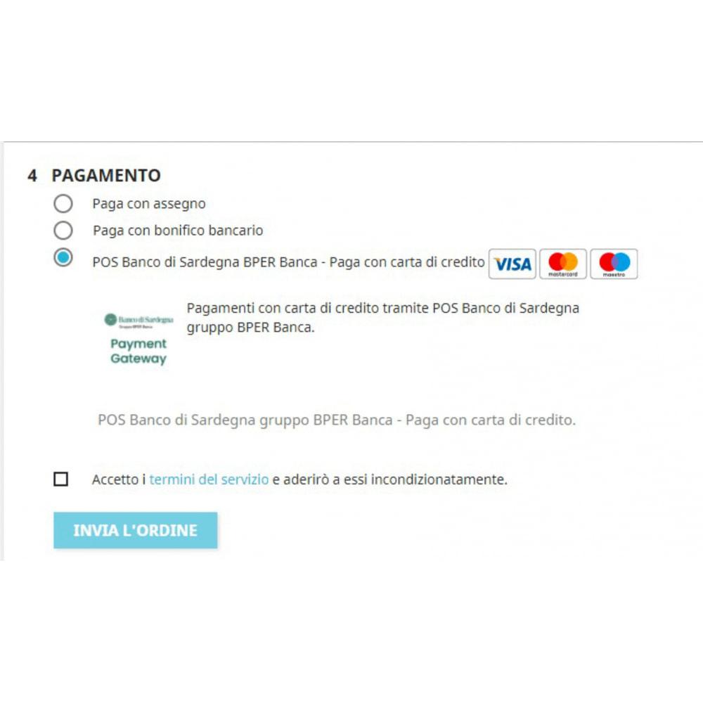 module - Pagamento con Carta di Credito o Wallet - Gateway pagamento Banco di Sardegna gruppo BPER Banca - 1