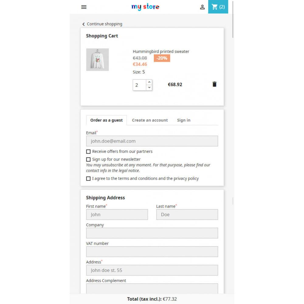module - Registration & Ordering Process - Comfort Checkout - 1