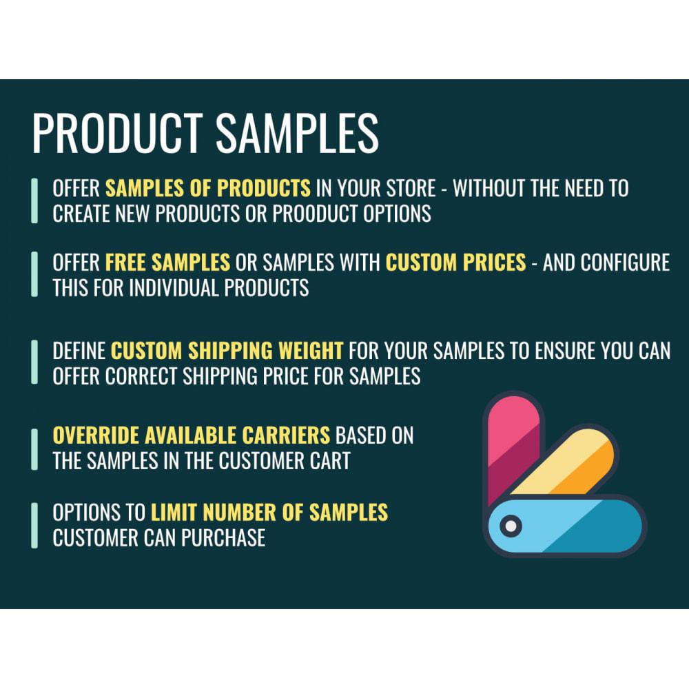 module - Informaciones adicionales y Pestañas - Product Samples - 1