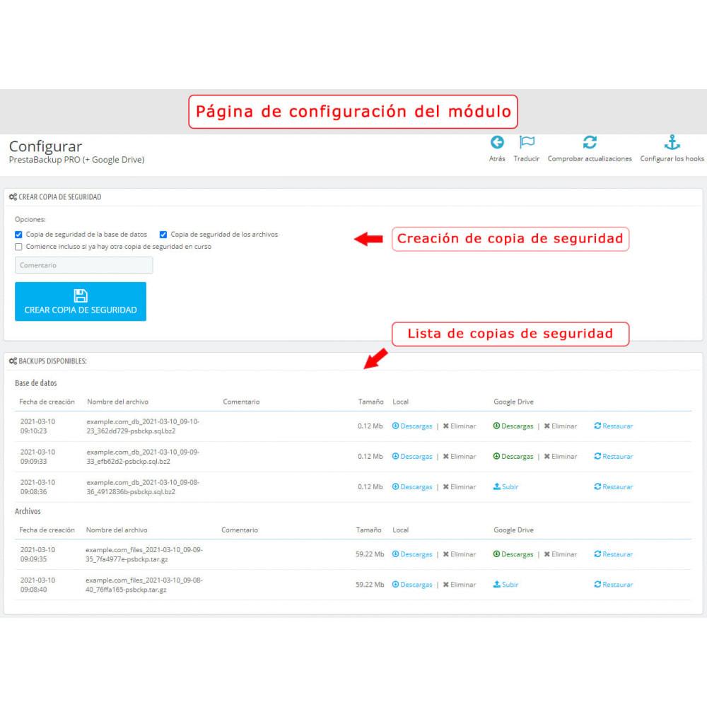 module - Migración y Copias de seguridad - PrestaBackup PRO (+ Google Drive) - 1