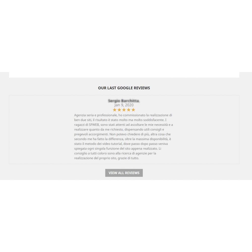 module - Recensioni clienti - Incorpora le recensioni di Google My Business - 3