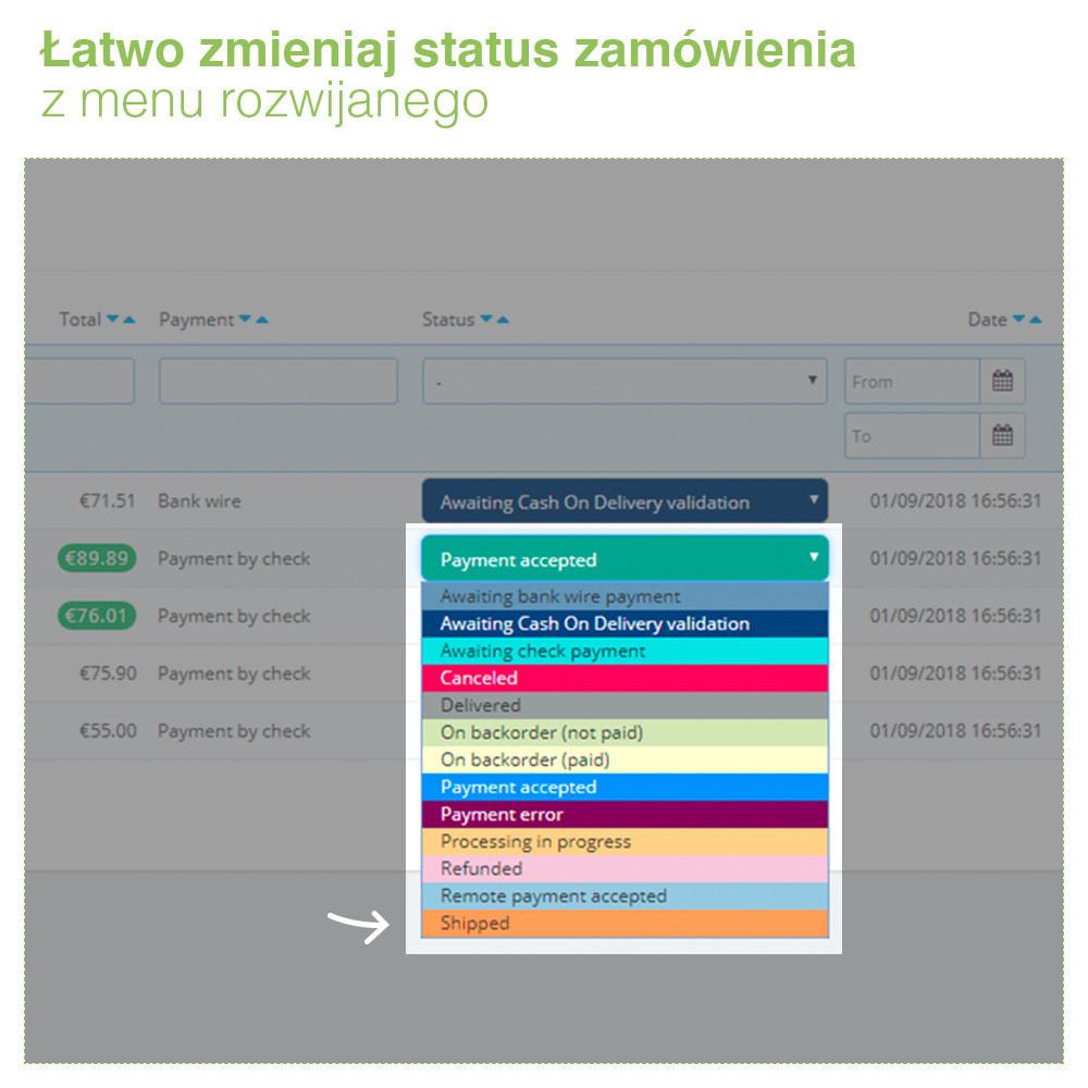 module - Zarządzanie zamówieniami - Change order status: szybka edycja stanu zamówień - 4