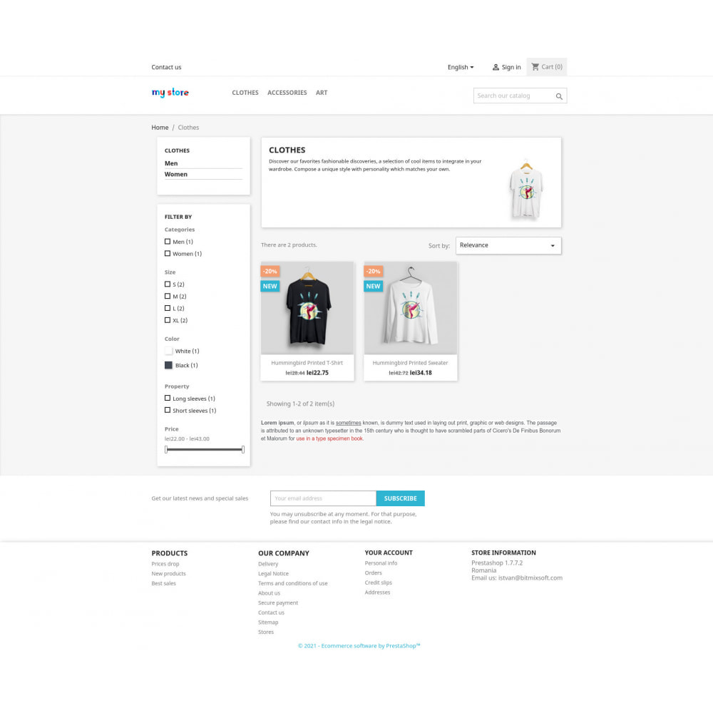 module - Additional Information & Product Tab - Extra category description - 2