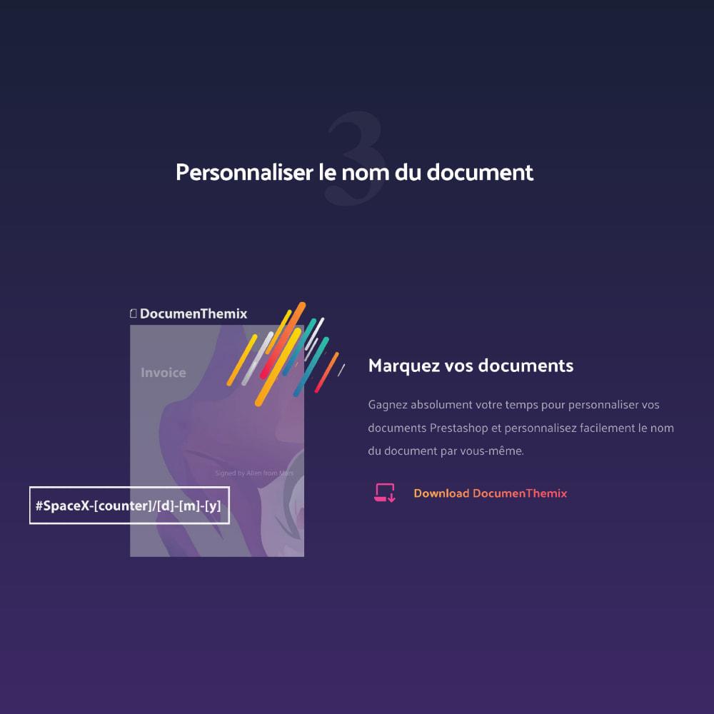 module - Comptabilité & Facturation - DocumenThemix: modèle de facture, crédit, livraison - 4