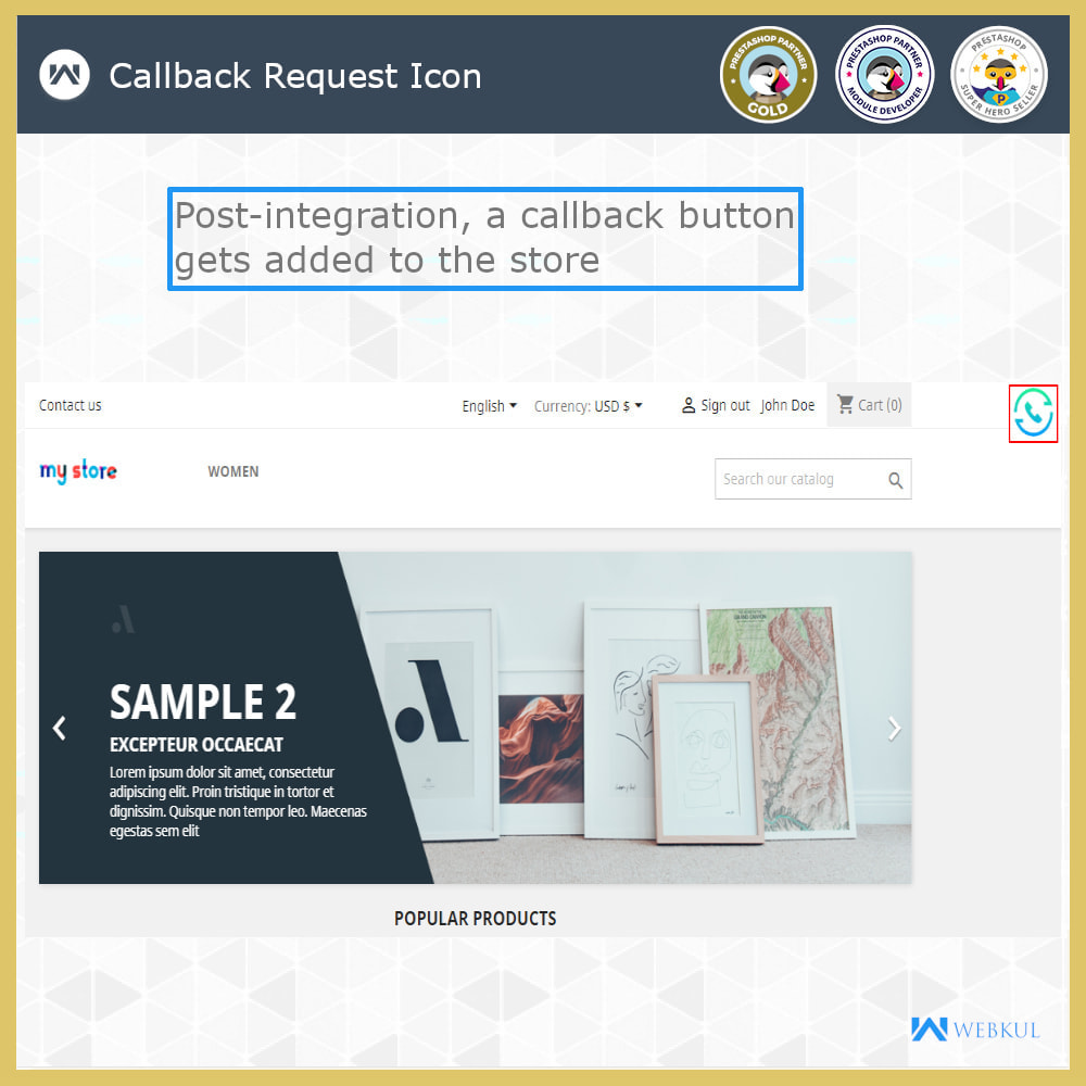 module - Support & Online Chat - CallBack Request | Add Request CallBack Form To Store - 4