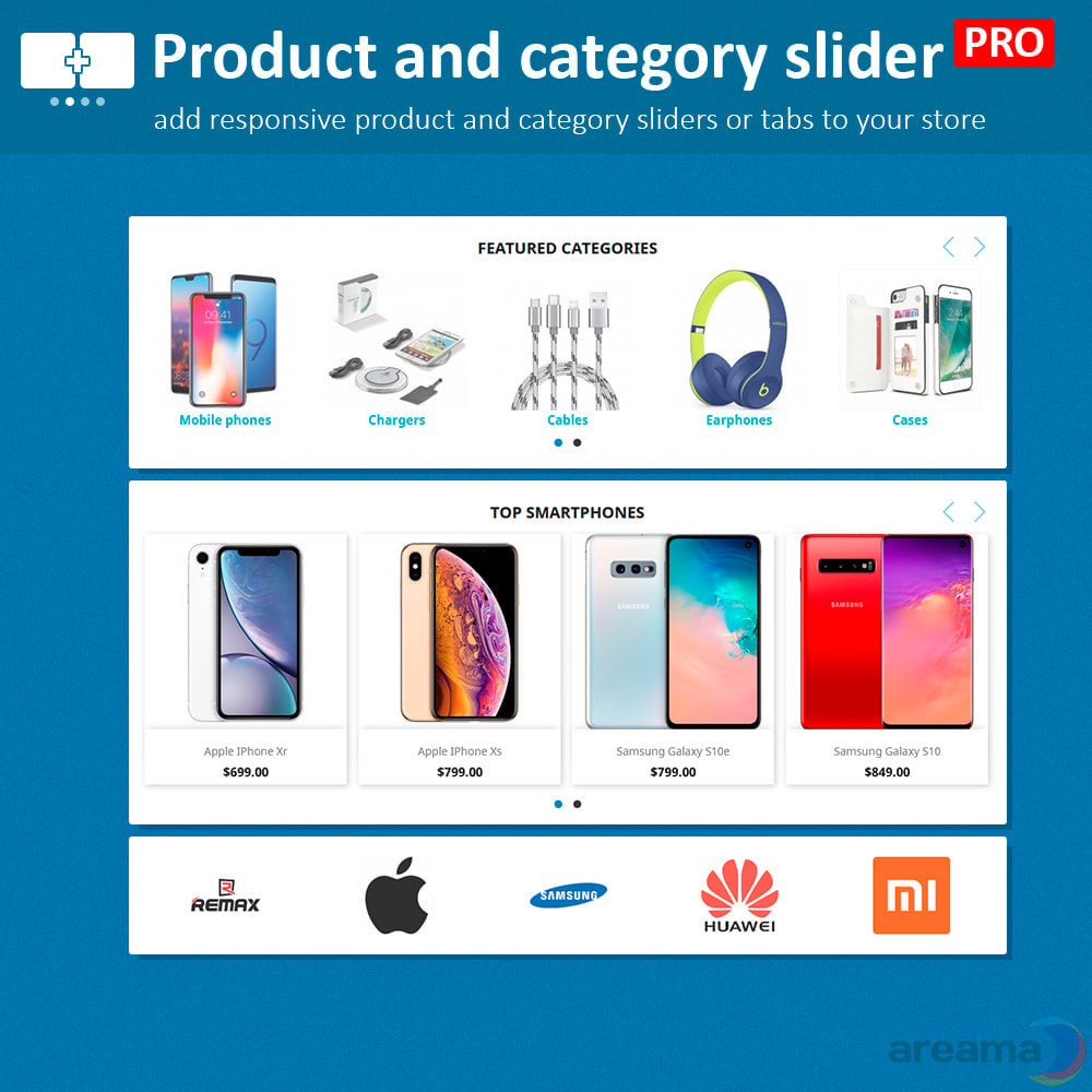 module - Additional Information & Product Tab - Product slider PRO + categories + related products - 2