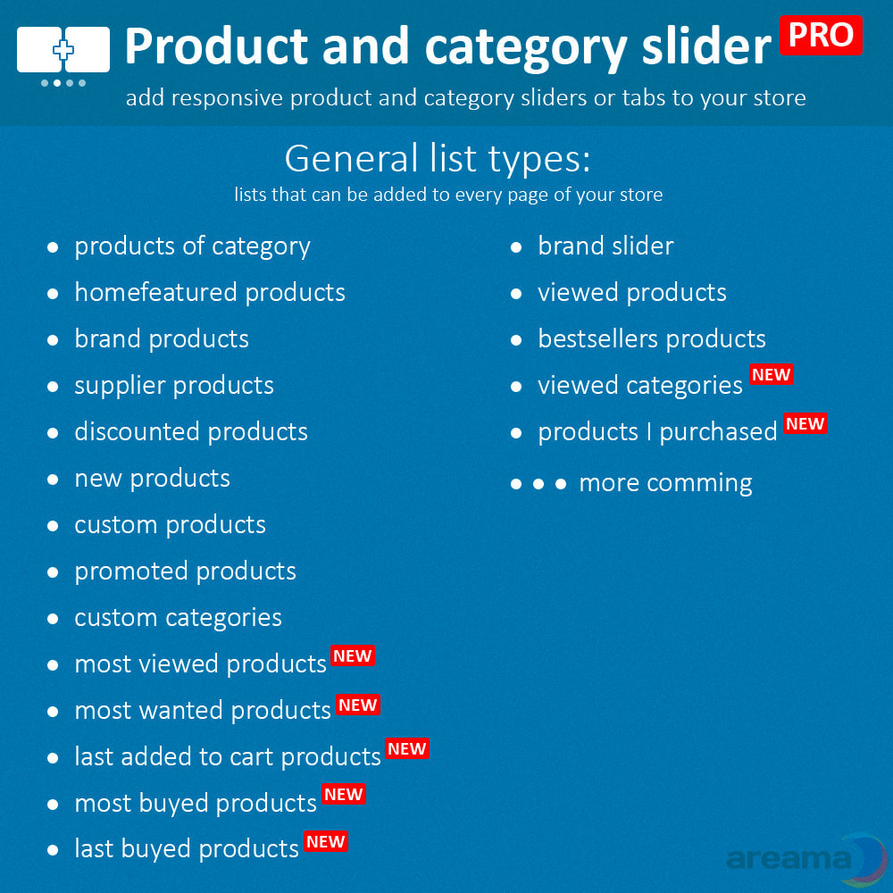 module - Bijkomende Informatie - Product slider PRO + categories + related products - 3