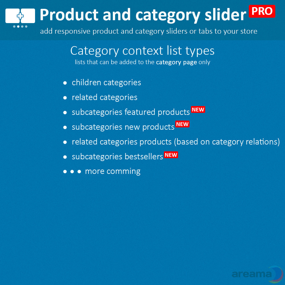 module - Bijkomende Informatie - Product slider PRO + categories + related products - 5