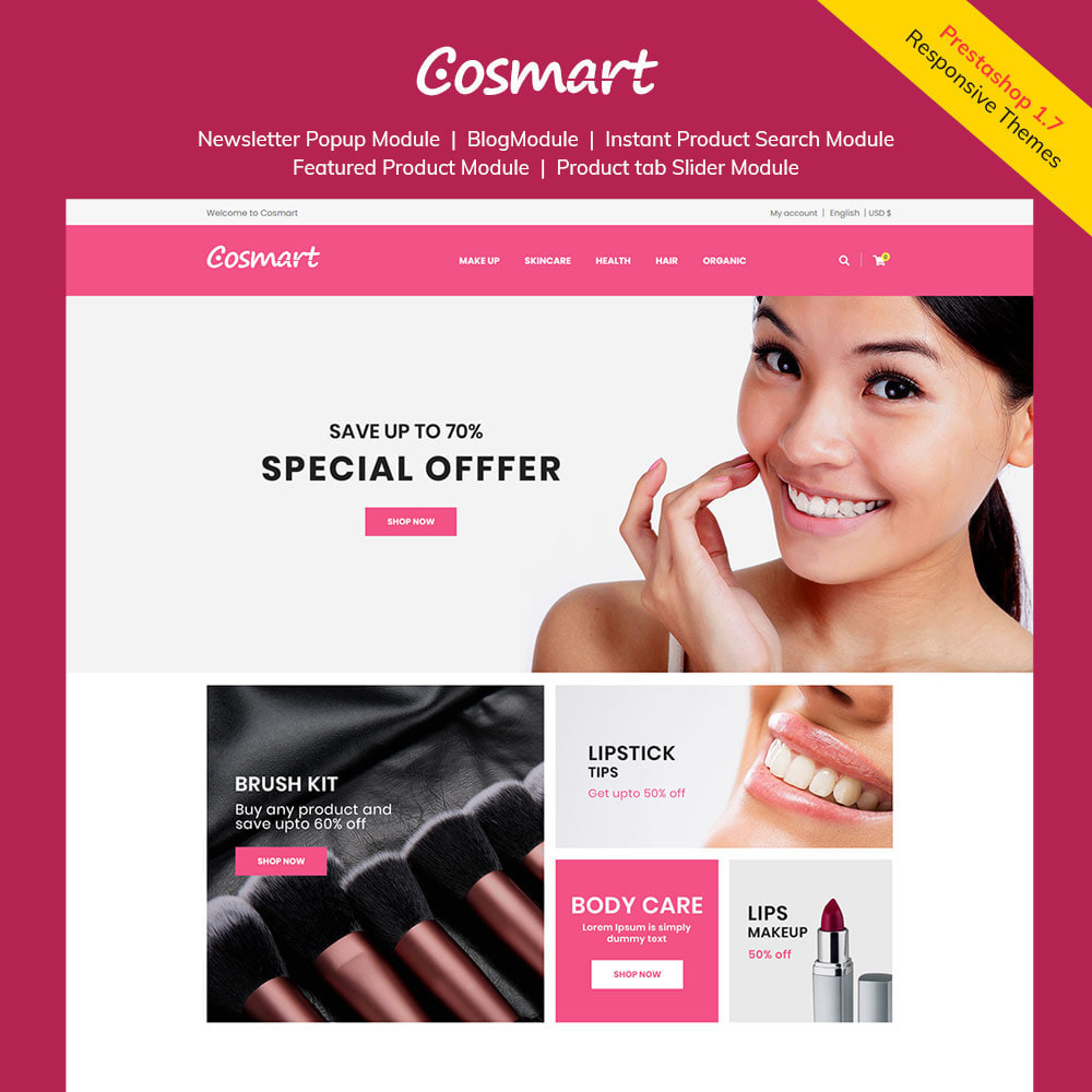 theme - Jewelry & Accessories - Cosmart Makeup Cosmetics - Beauty Gym Store - 1