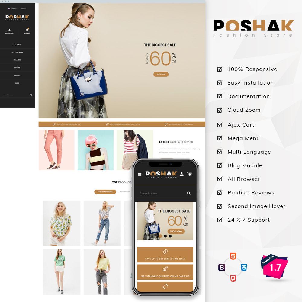 theme - Fashion & Shoes - Poshak - Fashion Shop - 1
