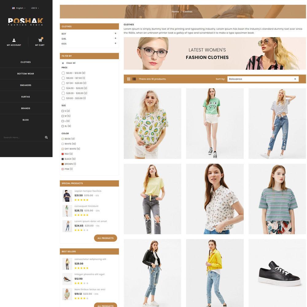 theme - Fashion & Shoes - Poshak - Fashion Shop - 3