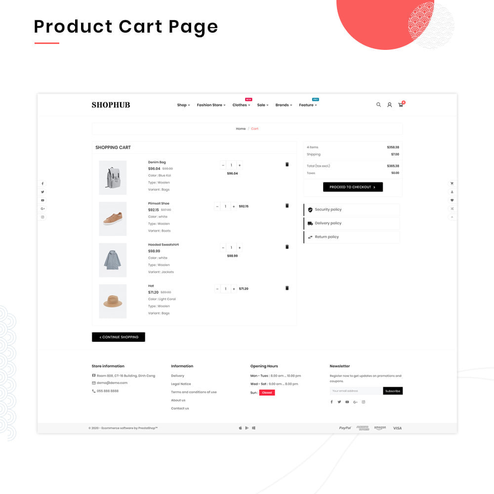 theme - Mode & Schuhe - SHOPHUB Mega Style–Fashion Minimal–Modern Super Store - 5