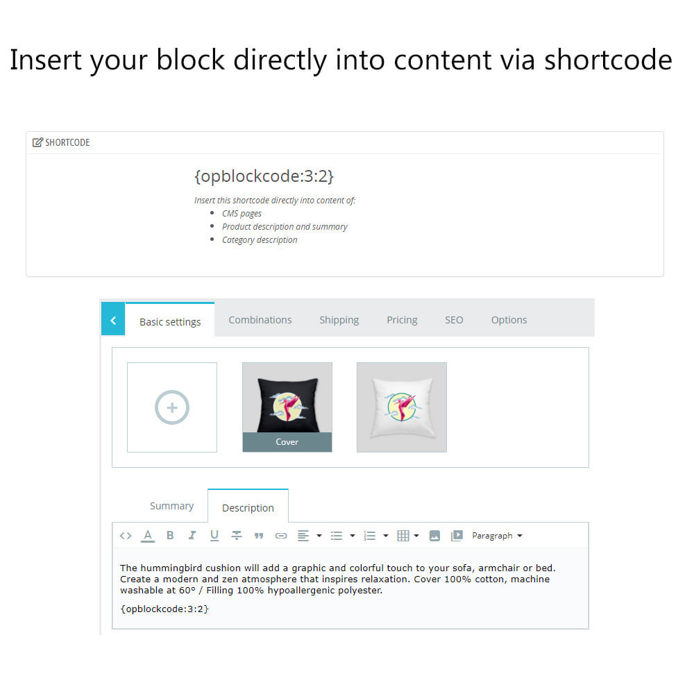 module - Page Customization - Multiple HTML Blocks, Lists of Links and Categories - 12
