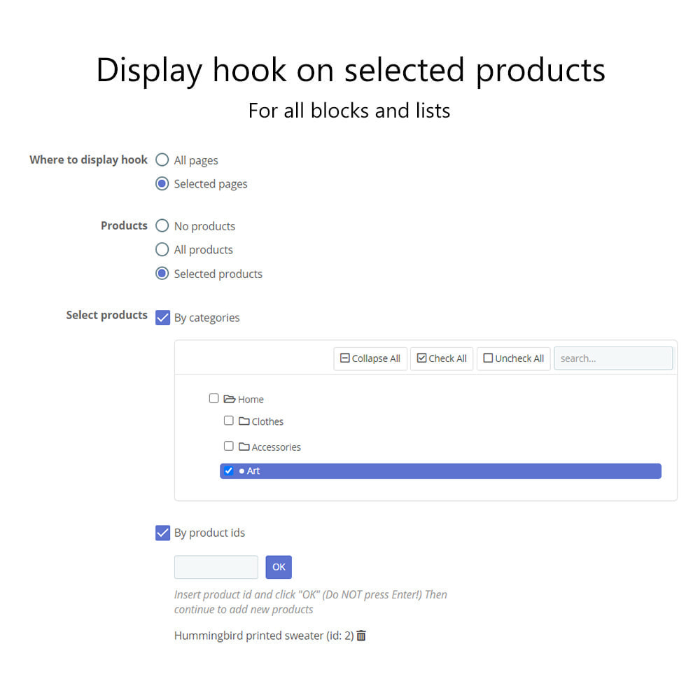 module - Page Customization - Multiple HTML Blocks, Lists of Links and Categories - 18