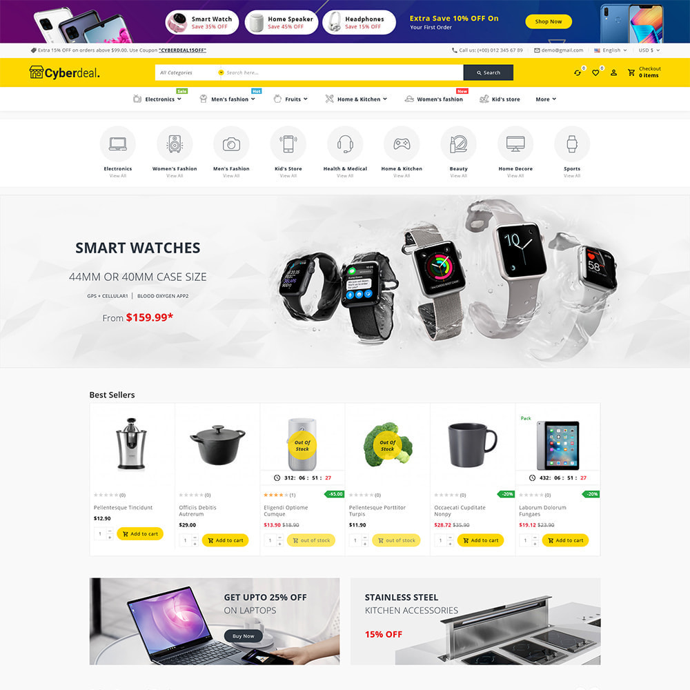 theme - Electronique & High Tech - Cyberdeal - Electronic Super Store - 2
