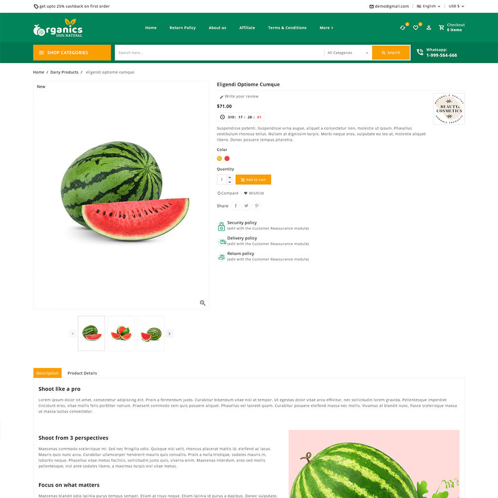 theme - Alimentation & Restauration - Organics - Fresh Food Delivery Store - 9