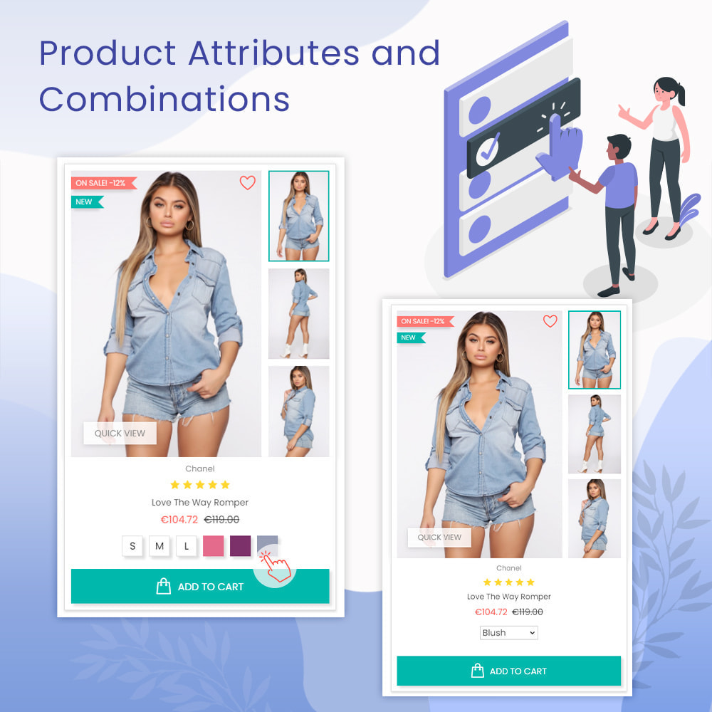 module - Combinations & Product Customization - Product Attributes and Combinations - 1