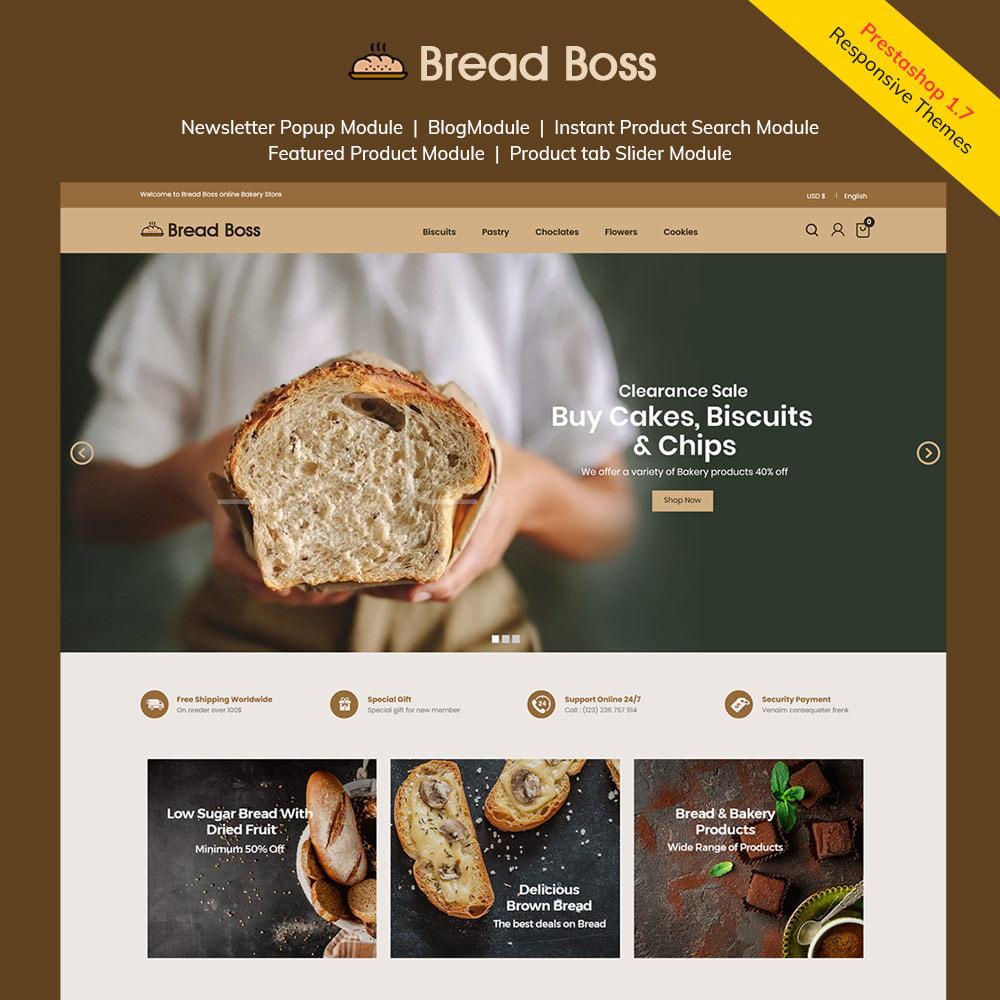 theme - Food & Restaurant - Breadboss Food - Bread Loaf Burger Pizza  Store - 1