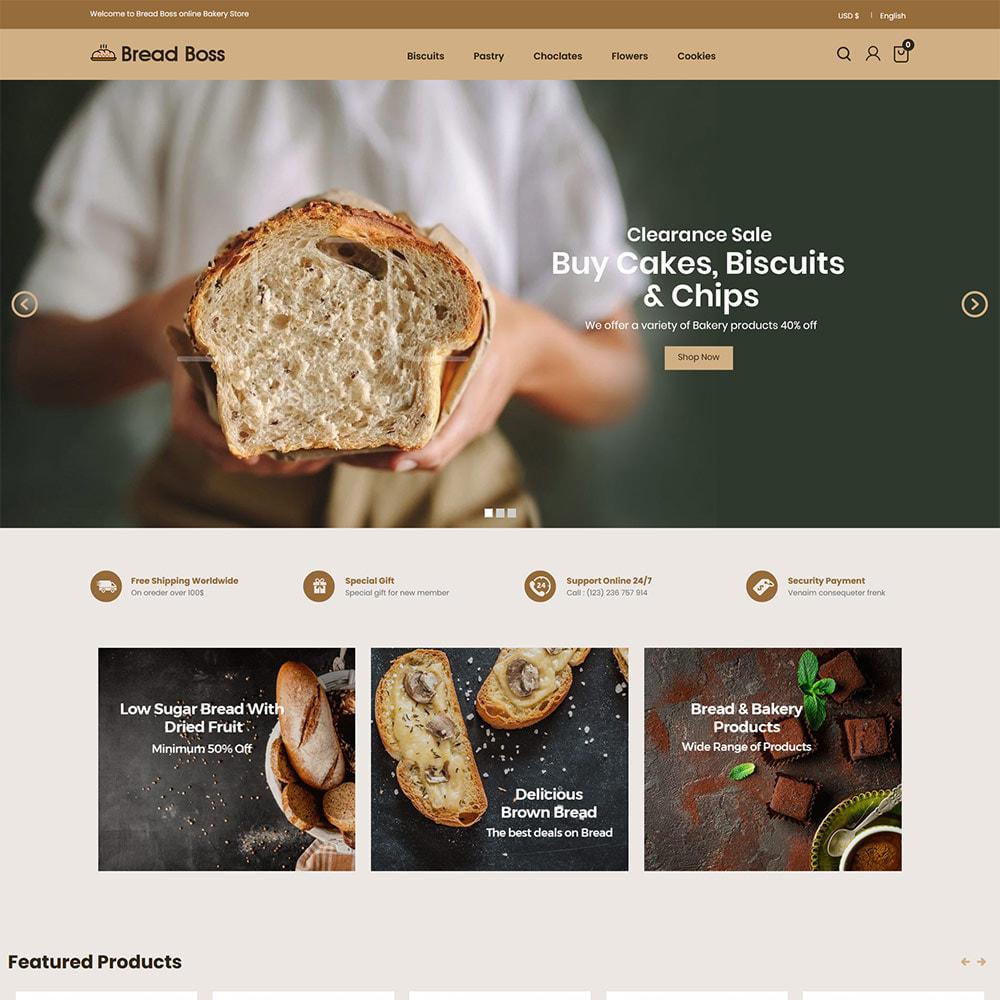 theme - Food & Restaurant - Breadboss Food - Bread Loaf Burger Pizza  Store - 2