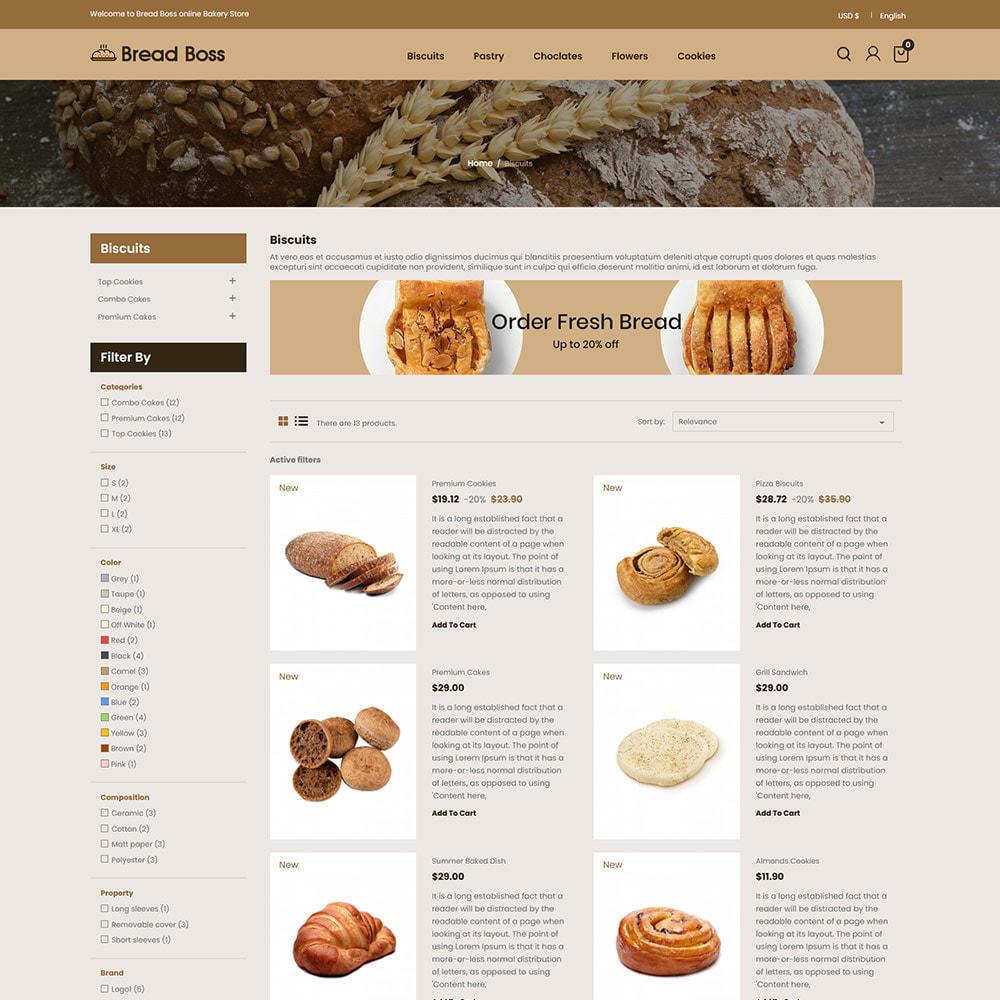 theme - Food & Restaurant - Breadboss Food - Bread Loaf Burger Pizza  Store - 4