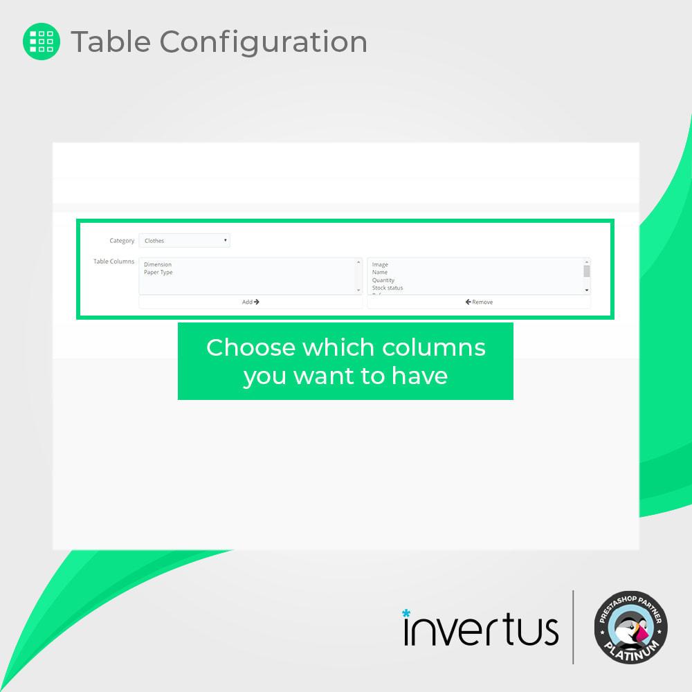 module - Déclinaisons & Personnalisation de produits - Table d'attributs simple - Pour le produit - 6