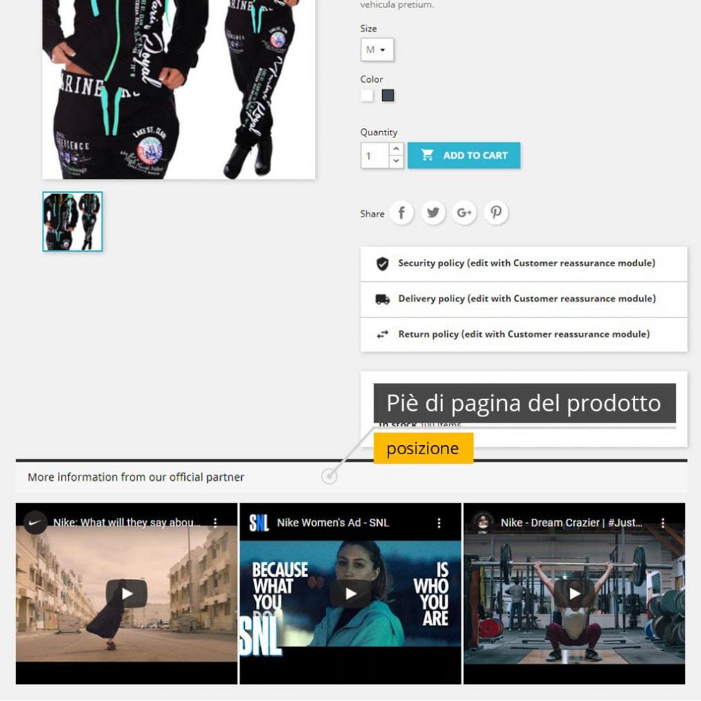 module - Video & Musica - Video dei prodotti - Youtube / Vimeo - 2
