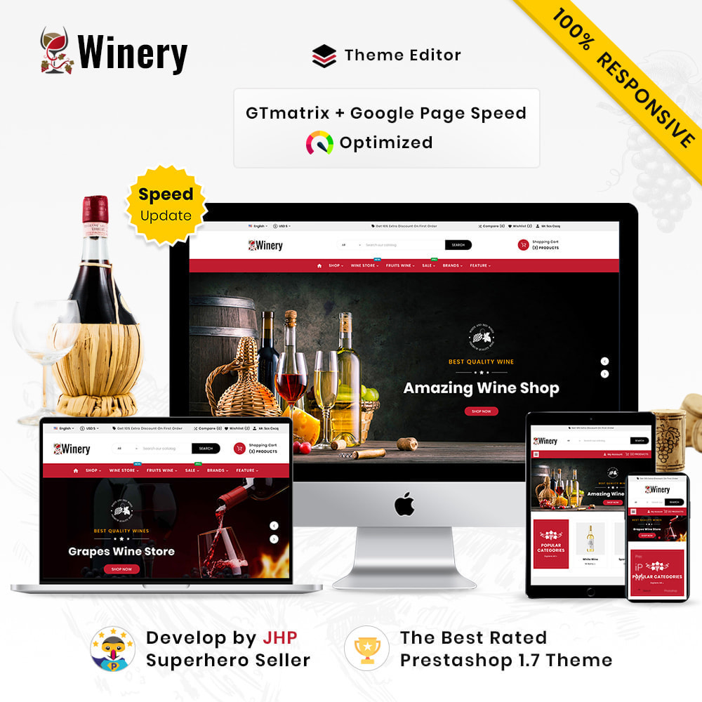 theme - Napoje & Wyroby tytoniowe - Winery Mega France–Wine  Alcohol–Drink Super Store - 1