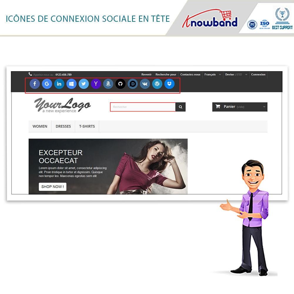 module - Boutons Login & Connect - Knowband- SocialLogin,14 en 1,Statistiques et MailChimp - 2